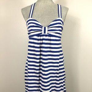 VS PINK navy stripe crossback casual dress